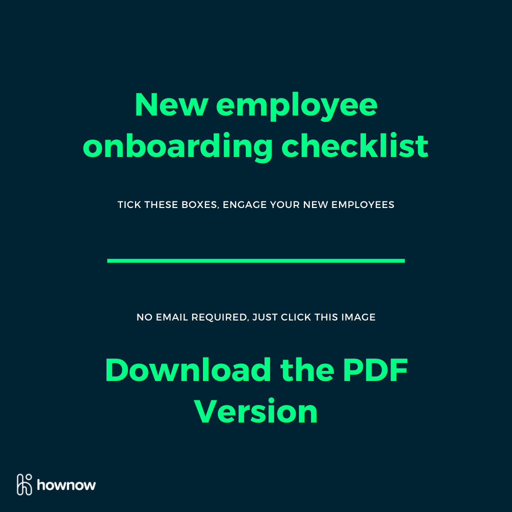 Download your PDF version of the new employee onboarding checklist