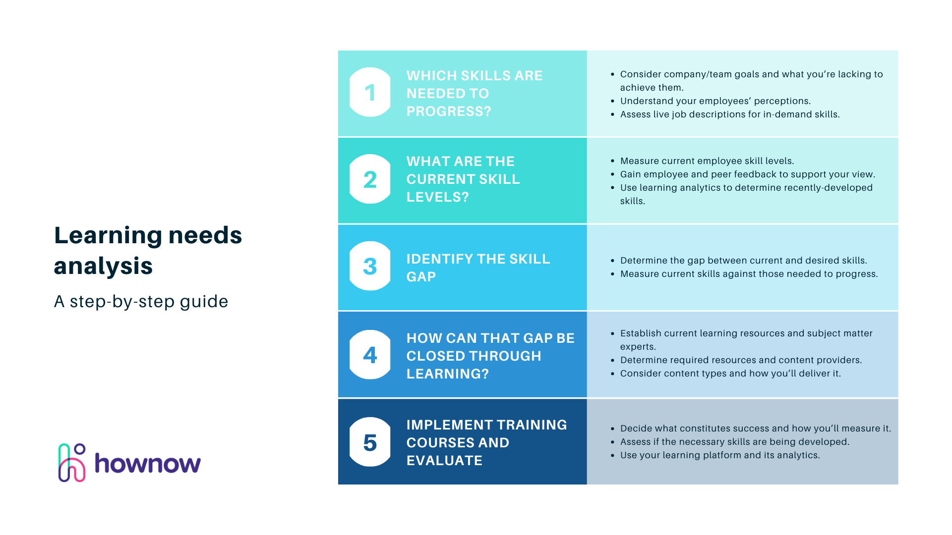 A step-by-step learning needs analysis guide